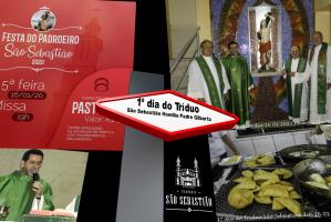 1º dia do Tríduo Festa do Padroeiro São Sebastião 2020 Pe Gilberto