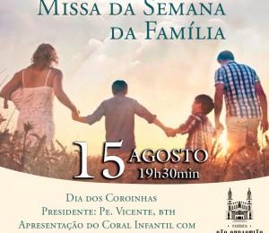 Semana da Família - 12 a 18 de Agosto: