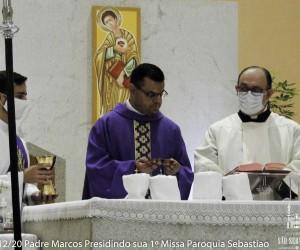 Dia 13-12-20 Padre Marcos Bernardes sua primeira Missa Paróquia São Sebastião Jaraguá do Sul - SC