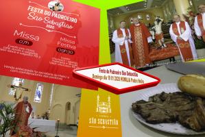 Festa do Padroeiro São Sebastião domingo dia 19 01 2020  Padre Helio